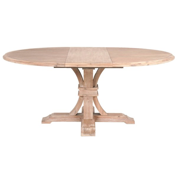 Orient Express Devon Stone Wash 54 Inch Round Extension Dining Table OEF-6070-SW