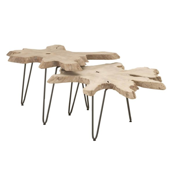Orient Express Drift Gray Nesting Coffee Table OEF-6826-GT
