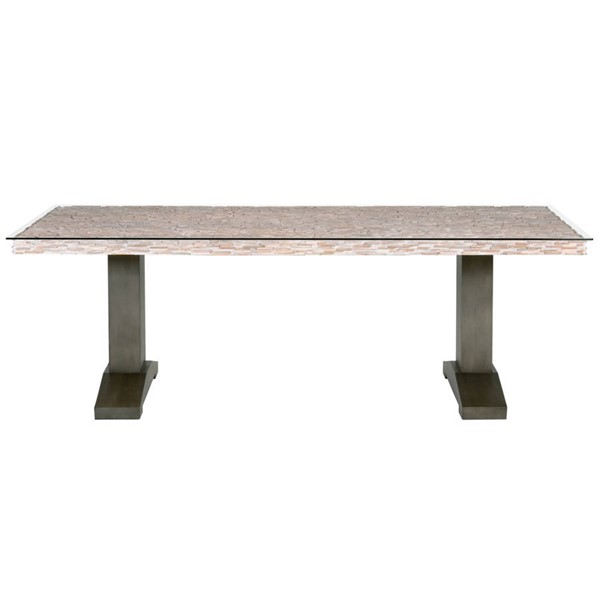 Orient Express Field Gray Bronze Dining Table OEF-7725-BM-GRY-PNE