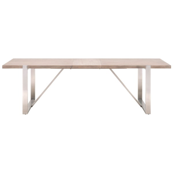 Orient Express Gage Gray Extension Dining Table OEF-6115-NG-BSTL