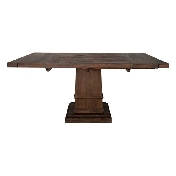 Orient Express Hudson Rustic Java 44 Inch Square Extension Dining Table OEF-6031-RJAV