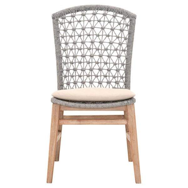 2 Orient Express Lace Platinum Light Gray Dining Chairs OEF-6819-PLA-LGRY