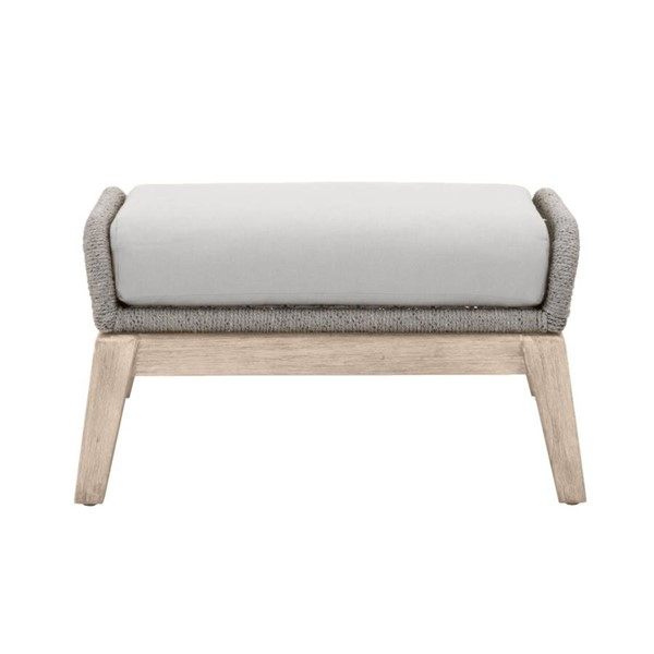 Orient Express Loom Platinum Light Gray Outdoor Footstool OEF-6817FS-PLA-SGRY-GT