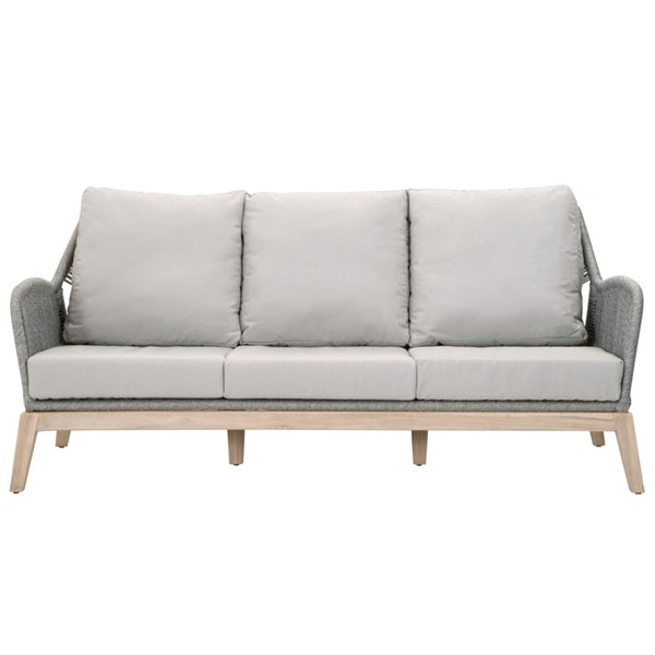 Orient Express Gray Loom Outdoor 79 Inch Sofa OEF-6817-3-PLA-SG-GT
