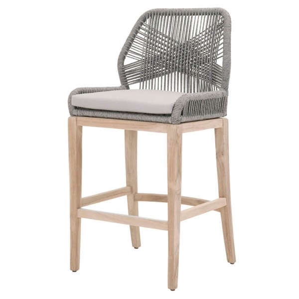 Orient Express Loom Smoke Gray Outdoor Bar Stool OEF-6808BS-PLA-SGRY-GT