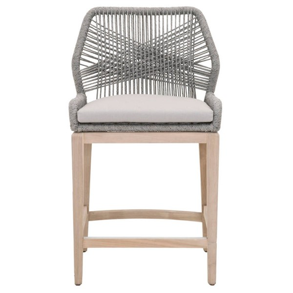 Orient Express Loom Platinum Smoke Gray Outdoor Counter Stool OEF-6808CS-PLA-SGRY-GT