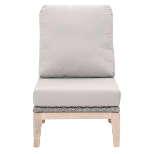 Orient Express Gray Loom Outdoor Modular Armless Chair OEF-6817-1S-PLA-SG-GT