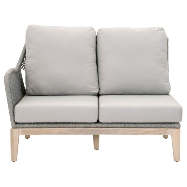 Orient Express Gray Loom Outdoor Modular Left Sofa OEF-6817-2S1L-PLA-SG-GT