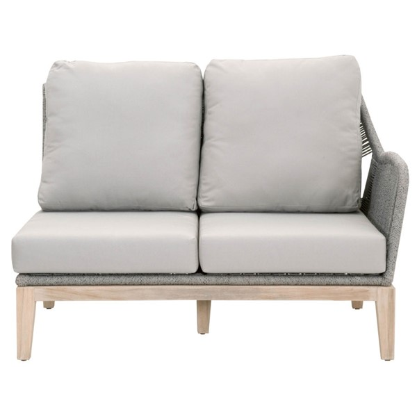 Orient Express Gray Loom Outdoor Modular Right Sofa OEF-6817-2S1R-PLA-SG-GT