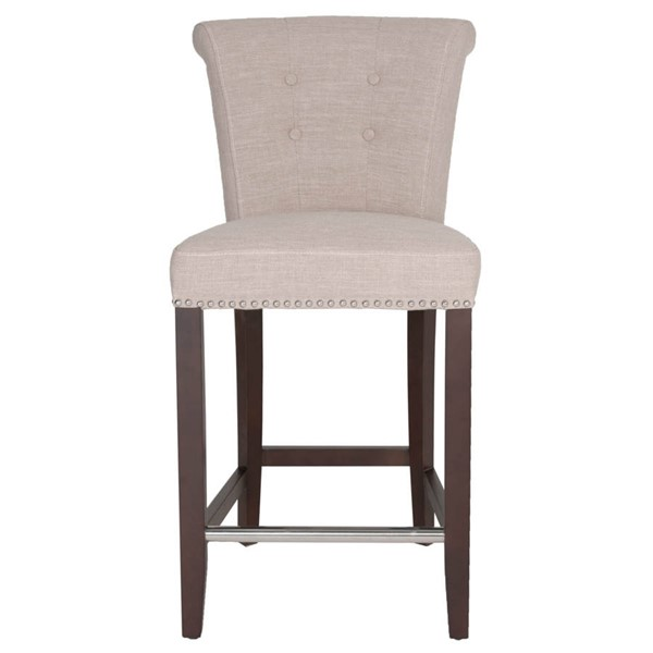 Orient Express Luxe Espresso Almond Counter Stool OEF-7117CS-ALM