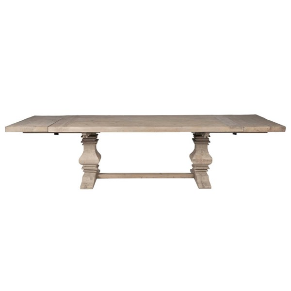 Orient Express Monastery Smoke Gray Extension Dining Table OEF-8040-SGRY-PNE