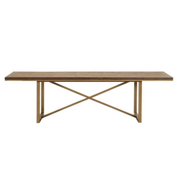 Orient Express Mosaic Rustic Java Brushed Gold Extension Dining Tables OEF-6084-L-DT-VAR