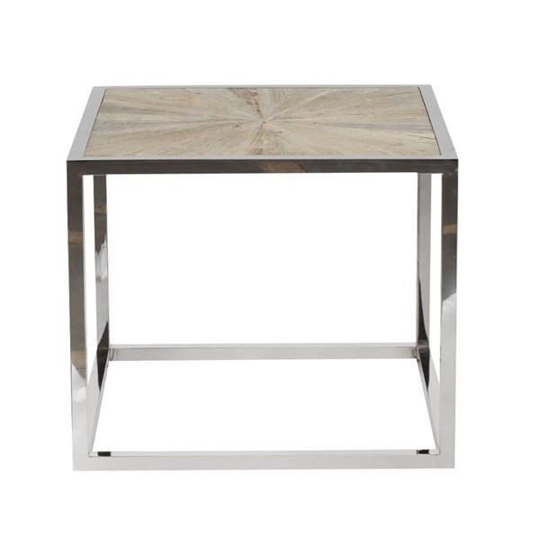 Orient Express Parquet Smoke Gray End Table OEF-8031-SGRY-ELM-STL