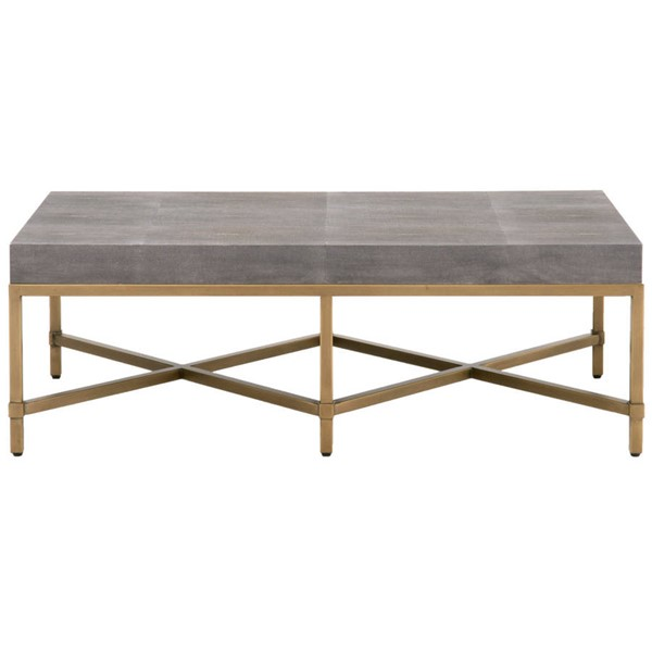 Orient Express Strand Gray Shagreen Brushed Gold Coffee Tables OEF-6117-CT-VAR