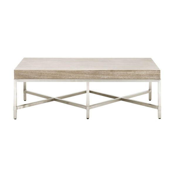 Orient Express Strand Natural Gray Coffee Table OEF-6117-NG-BSTL