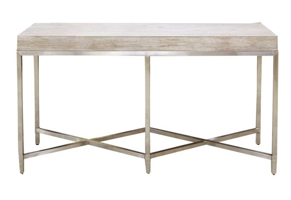 Orient Express Strand Natural Gray Console Table OEF-6119-NG-BSTL