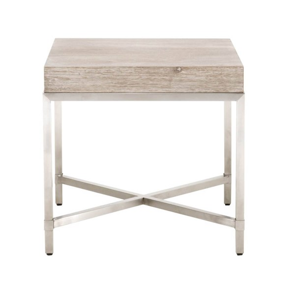 Orient Express Strand Natural Gray End Table OEF-6118-NG-BSTL