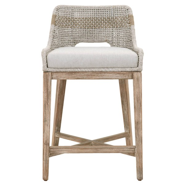 Orient Express Tapestry Natural Gray White Counter Stool OEF-6850CS-WTA-PUM-NG