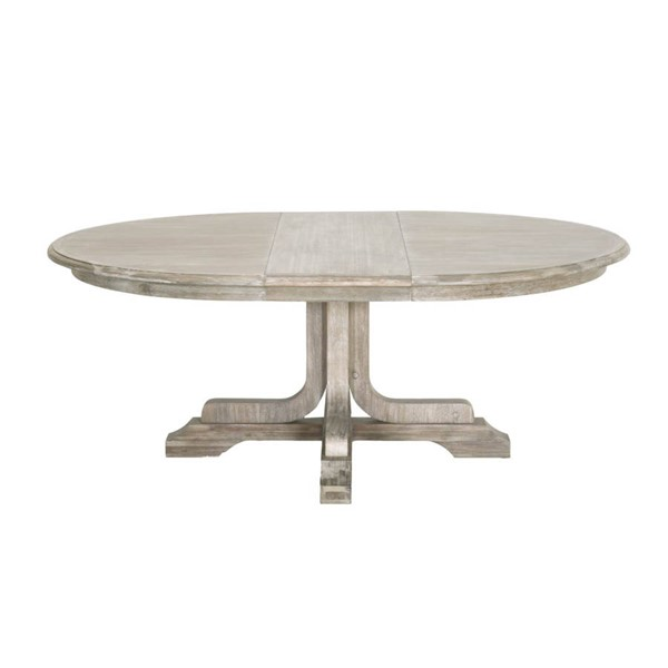 Orient Express Torrey Natural Gray 60 Inch Round Extension Dining Table OEF-6128-NG