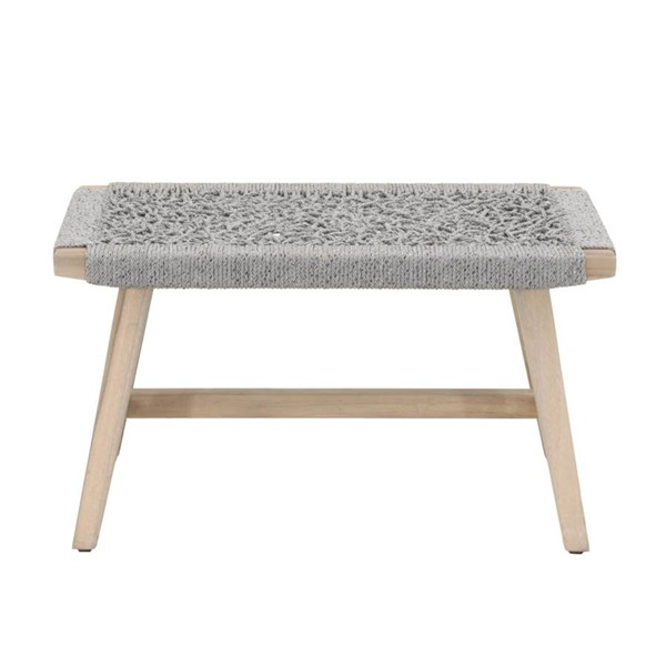 Orient Express Weave Gray Outdoor Accent Stool OEF-6824-PLA-GT