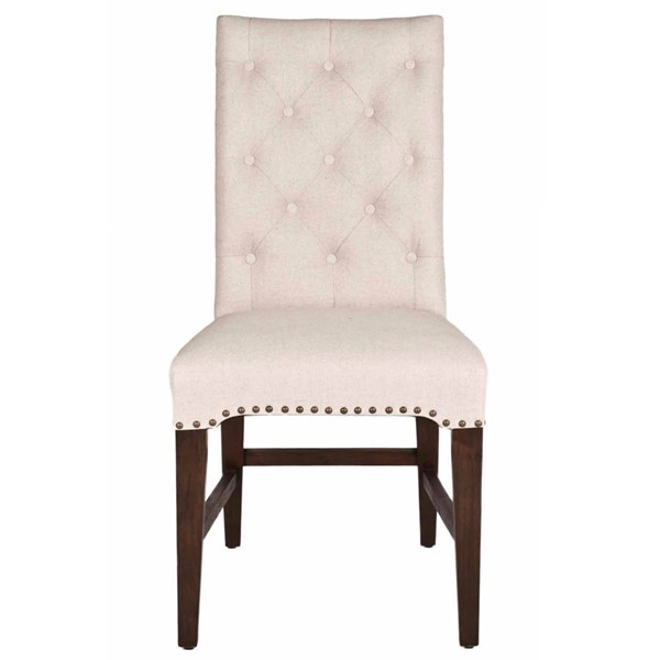2 Orient Express Wilshire Rustic Java Natural Dining Chairs OEF-6027-RJAV-NAT