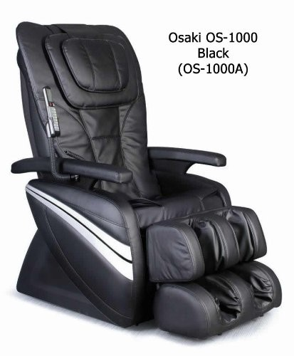 Black Osaki Deluxe Massage Chair W/Kneading OS-1000A