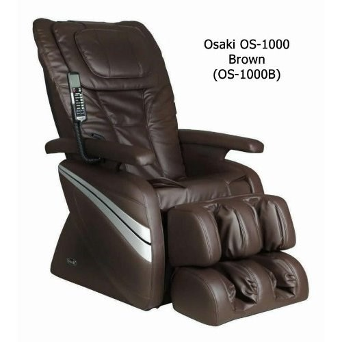 Brown Osaki Deluxe Massage Chair W/Kneading OS-1000B
