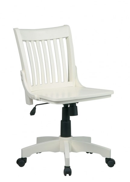 Deluxe Armless Wood Bankers Chairs w/Wood Seat OSP-101-CH-VAR