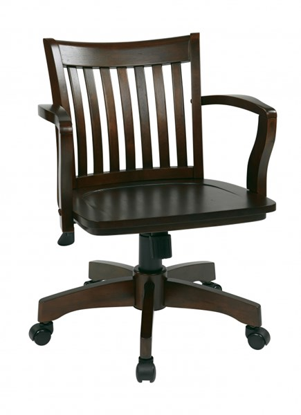 Bankers Espresso Chairs Deluxe Wood Chairs OSP-105-CH-VAR