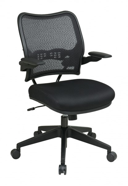 Contemporary Metal AirGrid Back & Black Mesh Seat Deluxe Chair OSP-13-37N1P3
