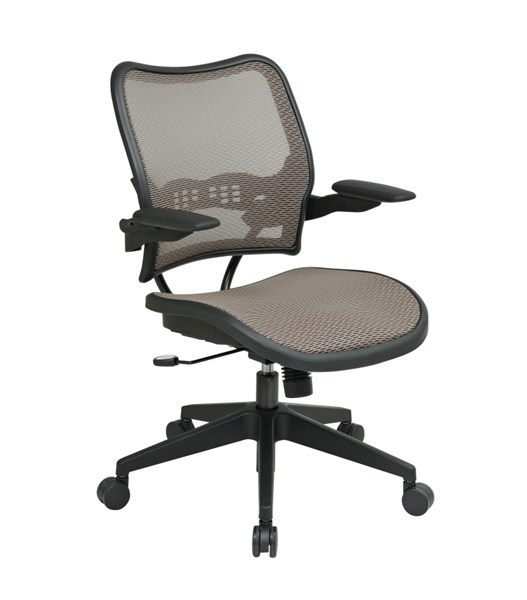 Black Latte Deluxe AirGrid Seat & Ack Chair W/Cantilever Arms OSP-13-88N1P3