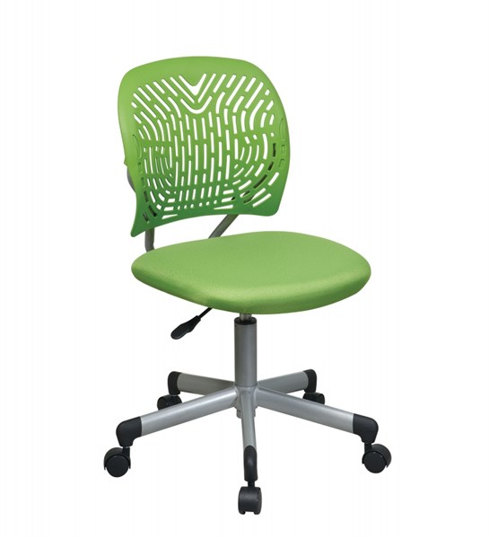 Green Fabric & Plastic Back Caster Base Designer Task Chair OSP-166006-6