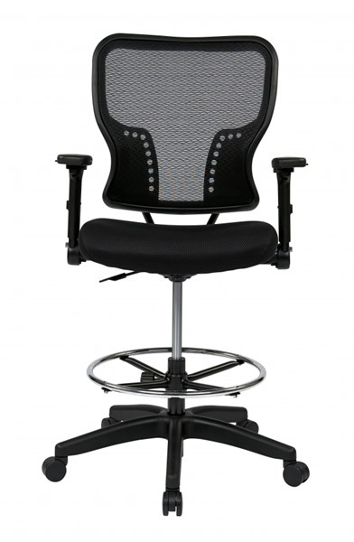 Deluxe Air Grid Back & Padded Mesh Seat Chair w/4-Way Flip Arms OSP-213-37N2F3D