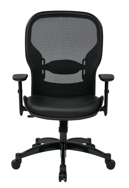 Professional Breathable Mesh Back Chair w/BondedLeather Seat OSP-2400E