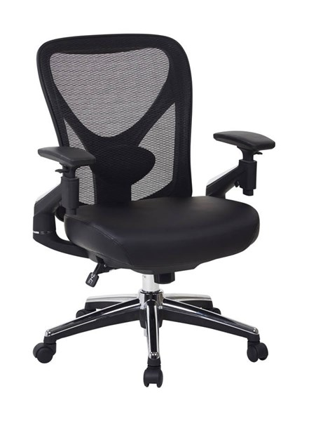 ProGrid Mesh Back Leather Seat Height Adjustable Back Managers Chair OSP-27284