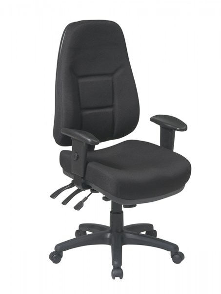 Black High Back Multi Function Ergonomic Chair w/2-Way Adjustable Arms OSP-2907-231