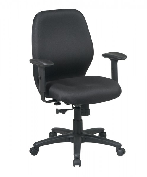 Black Mid Back 2-to-1 Synchro Tilt Chair w/2-Way Adjustable Arms OSP-3121-231