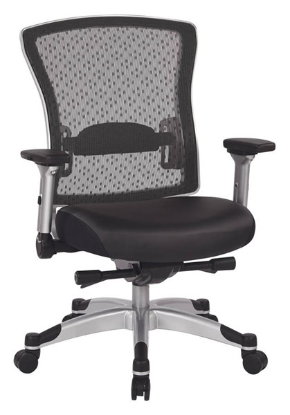Platinum Bonded Leather Metal Executive Breathable Mesh Back Chair OSP-317-ME3R2C6KF6
