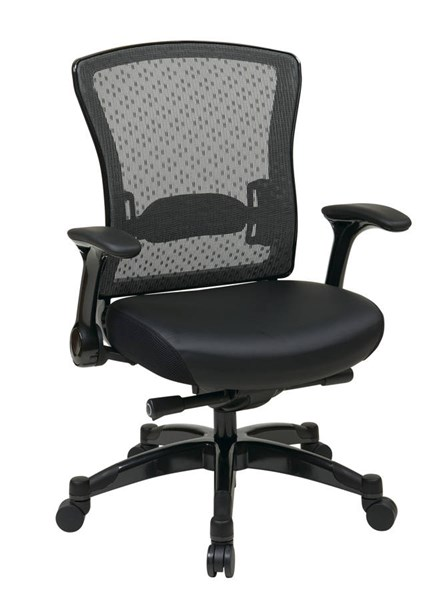 317 Series Black Bonded Leather Metal Executive Back Chair OSP-317-ME3R2C7KF7