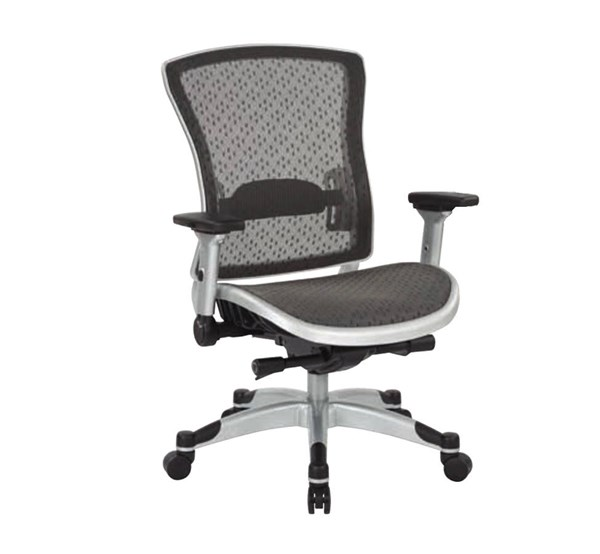 Executive Breathable White Black Mesh Back Flip Arms Chair OSP-317-R22C6KF6