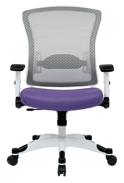 Pulsar White Frame Managers Chair w/Padded Mesh Seat & Back in Purple OSP-317W-W1C1F2W-512