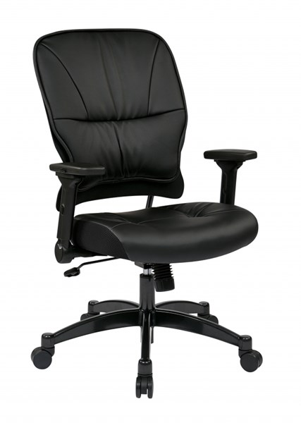 Black Bonded Leather Seat & Back Managers Chair OSP-32-E3371F3