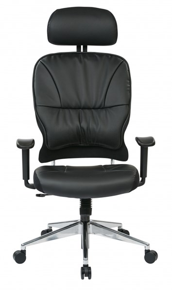 Black Bonded Leather Managers Chairs w/Headrest OSP-32-E33P918PHL