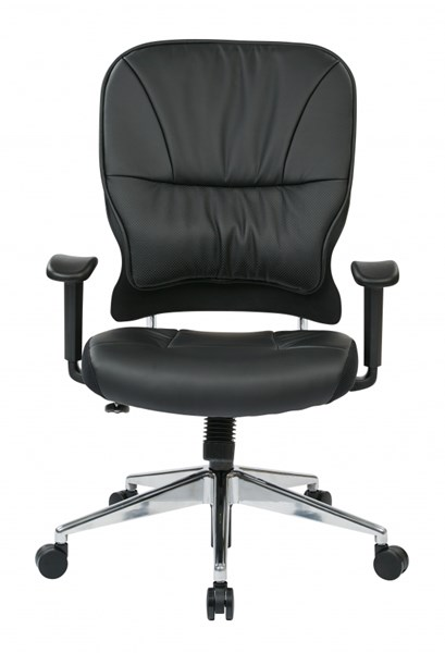 Black Bonded Leather Managers Chairs w/o Headrest OSP-32-E33P918P