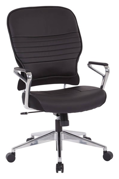 Modern Black Bonded Leather Metal Adjustable Height Managers Chair OSP-32-E33P91A7