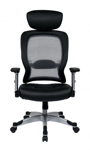 Professional Light Air Grid Back & Bonded Leather Seat Headrest Chair OSP-327-E36C61F6HL