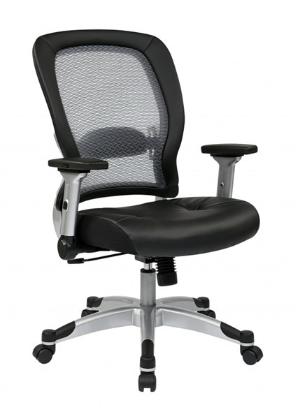 Professional Light Air Grid Back & Bonded Leather Seat Chair OSP-327-E36C61F6
