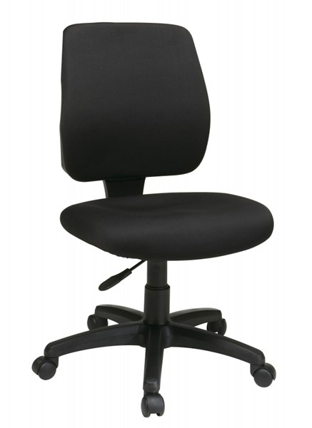 Black Deluxe Task Chair w/Ratchet Back Height Adjustment w/o Arms OSP-33101-30
