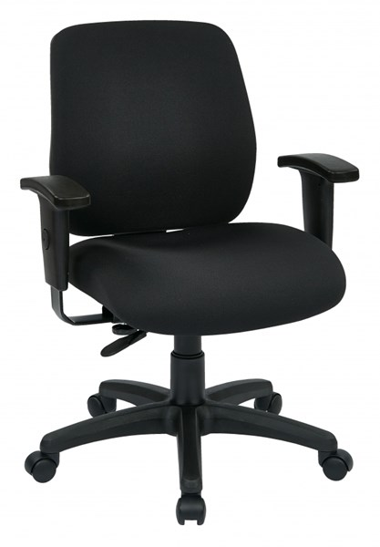 Black Deluxe Task Chair w/Ratchet Back Height & Width Adjustment OSP-33107-30