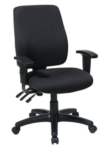 Black High Back Ergonomic Chair w/Ratchet Back w/Arms OSP-33347-30 OSP-33347-30